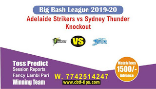 Who will win Today Big Bash, Knockout Match Thunder vs Adelaide - Cricfrog