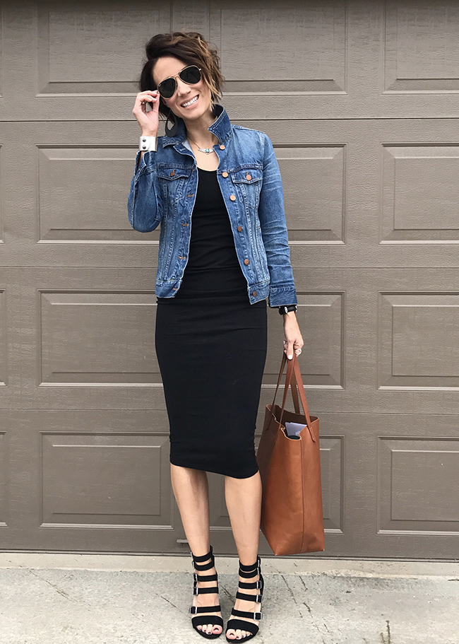 Jean Jacket Black Leggings