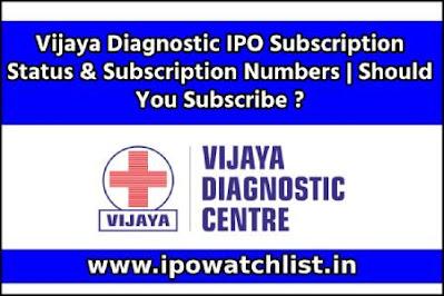 Vijaya Diagnostic IPO Subscription Status