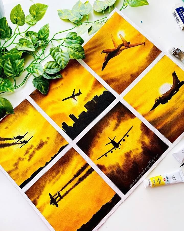 03-Aeroplanes-and-the-sunset-Geethu-www-designstack-co