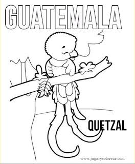 Dibujo para colorear de Quetzal