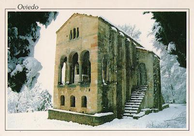 Santa María del Naranco, Escudo de Oro, postal, Oviedo