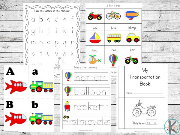 Kindergarten Worksheets And Games: FREE Transportation