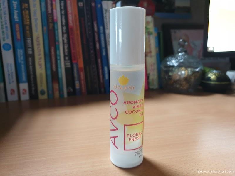 Minyak Kelapa Dara D'aura Aromatic Virgin Coconut Oil (AVCO) menyuburkan kulit dan rambut dengan bauan aromatik !