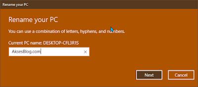 "Cara Mengganti Nama Laptop Yang Terinstall ""Microsoft Account"" Windows 10"