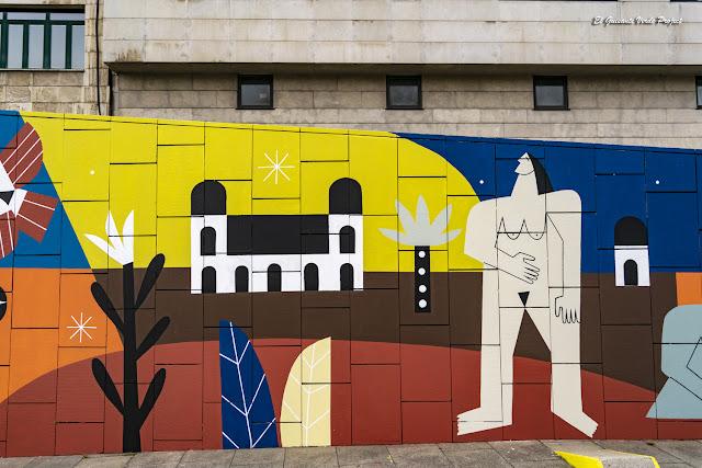 Mural (detalle) Supervivientes Violencia Machista, por Junita Makina - Muelle de la Merced, Bilbao por El Guisante Verde Project