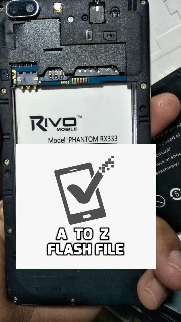 Rivo Phantom Rx333 Mt6572 v4.4.2 Tested Scatter Firmware Flash  File  Free 100% Ok