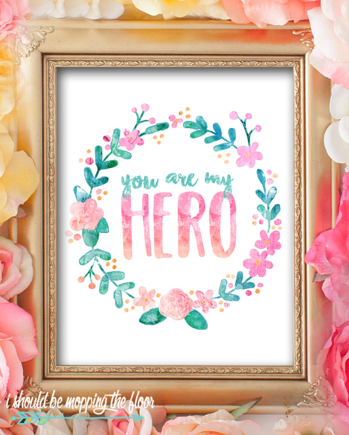These eight beautiful watercolor Mother's Day Printables are perfect for giving or decorating. These lovely 8x10 prints sure to bring a smile to any mom's face!