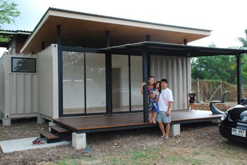 Simple Shipping Container Home Made of Two 20 ft Containers, Thailand 4
