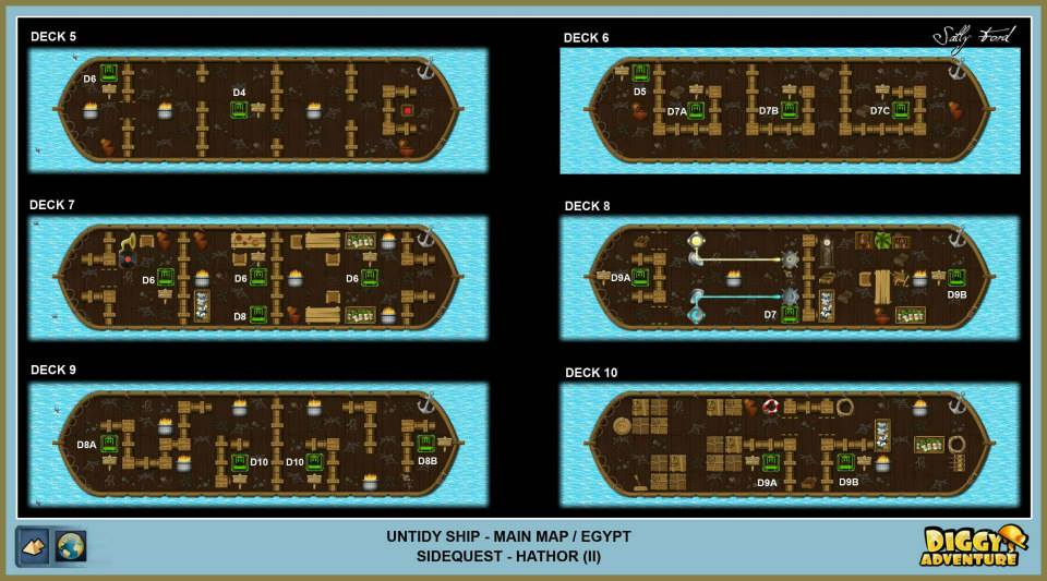 Diggy's Adventure Walkthrough: Egypt Main / Untidy Ship Decks
