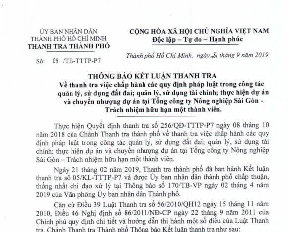Hàng loạt sai phạm đất đai với SAGRI của Công ty Cổ phần Phong Phú