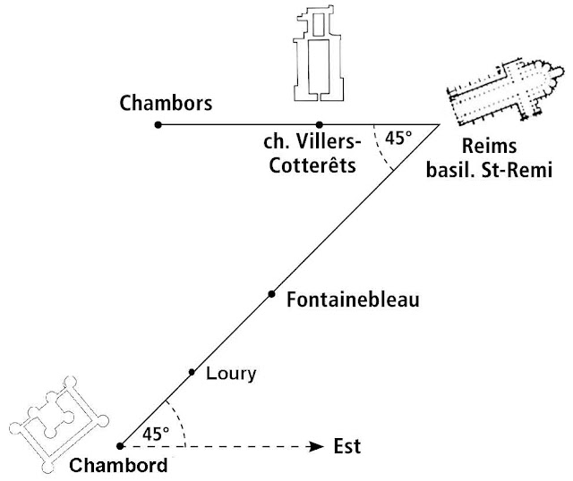 L'angle royal Chambord-Reims-Chambors.