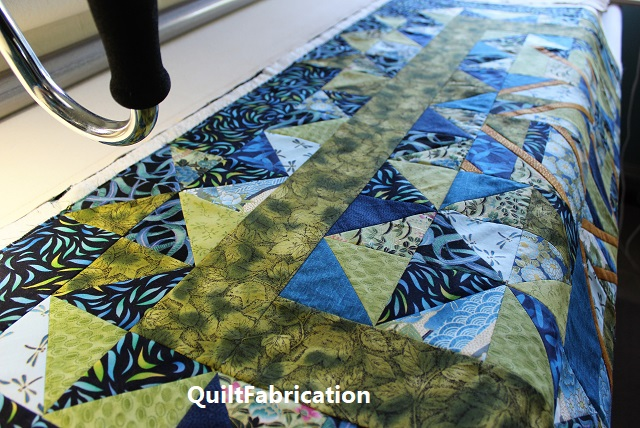 Use It Up on the quilt frame