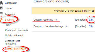 how to make robots.txt in blogger