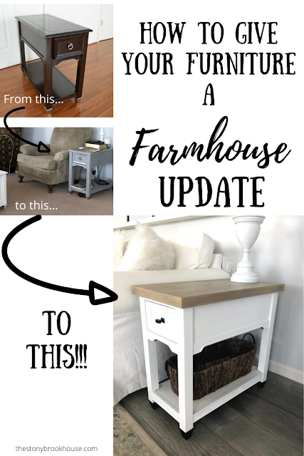 End Tables Get A Farmhouse Update