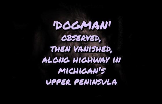 'Dogman' Observed, Then Vanished, Along Highway in Michigan's Upper Peninsula