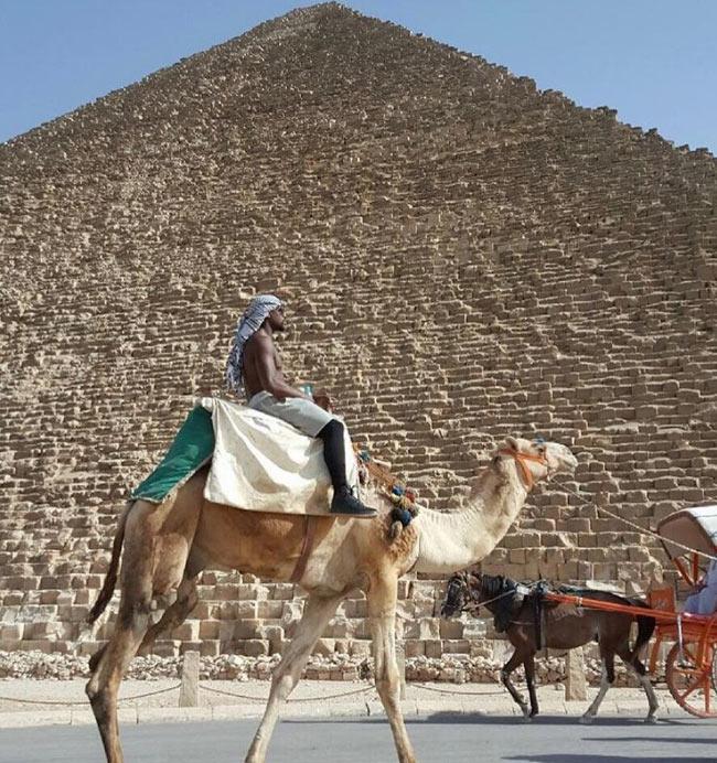 Big boy life! Floyd Mayweather rides camel in Egypt