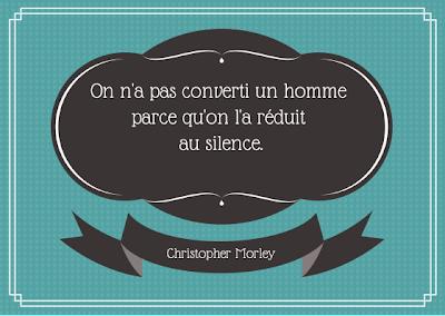 citation, censure, silence, christopher morley,