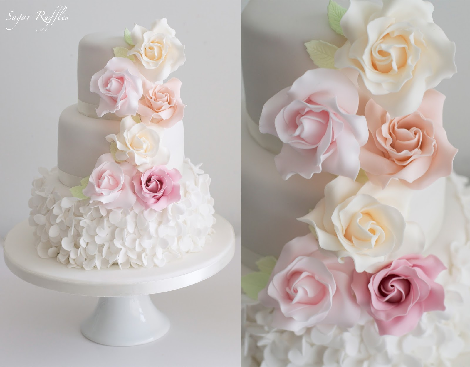 2 Tier Wedding Cakes With Roses Tbrbfo