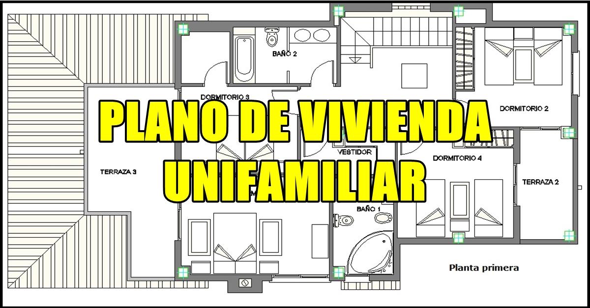 Planos de vivienda unifamiliar civiltotal - Planos de viviendas unifamiliares ...
