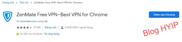 ZenMate VPN - phần mềm fake ip tốt nhất