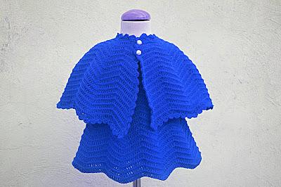 8 - Crochet Imagen Vestido rojo navideño en conjunto con capa por Majovel Crochet