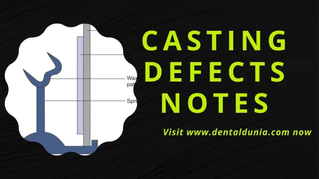 Casting Defects Notes For Exams