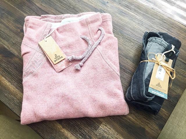 prAna's Lucia sweater & Kara Jeans