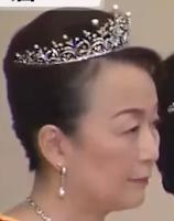 pearl diamond tiara japan princess tomohito mikasa nobuko mikimoto
