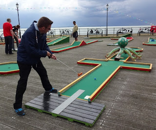 Crazy Golf course on Southend Pier