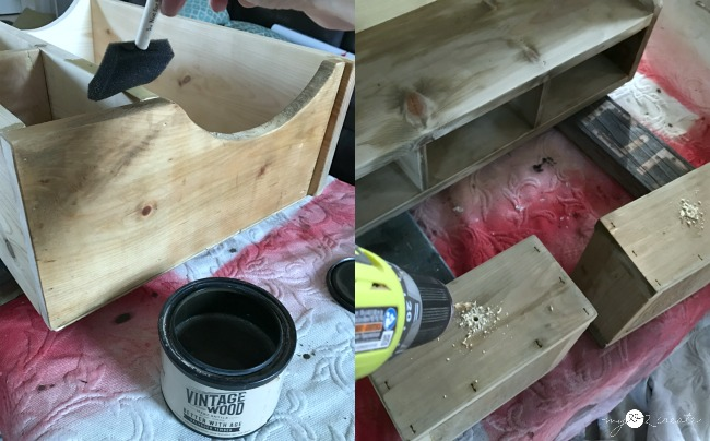 staining shelf