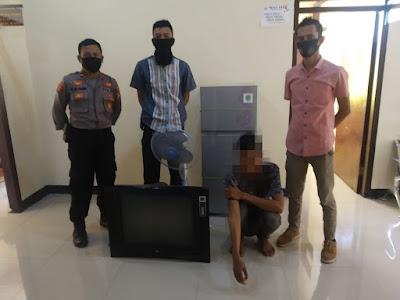 Jual TV Hasil Curian, Lelaki Asal Gontar Diringkus Polres Sumbawa