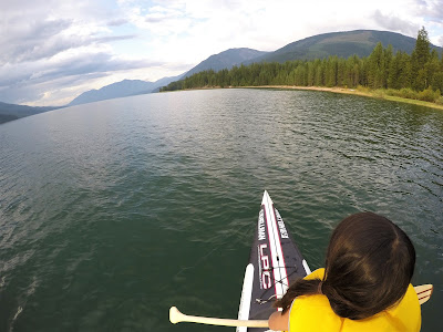 Paddleboarding at Upper Arrow Lake