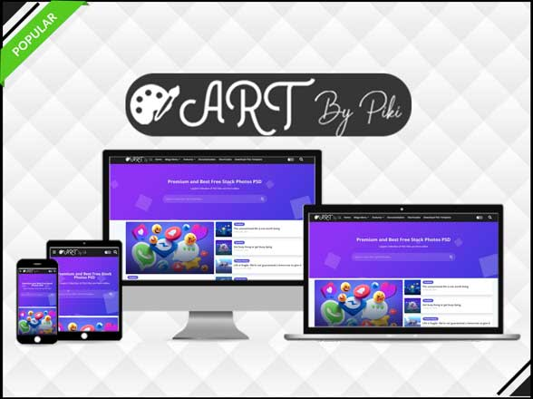 Art - Vector & Responsive Blogger Template - Blogger Template 2021