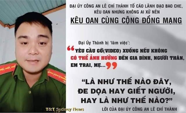 Đại úy Lê Chí Thành tố cáo trại giam Xuân Lộc cho vay siêu nặng lãi và cắt xén lương của đồng chí
