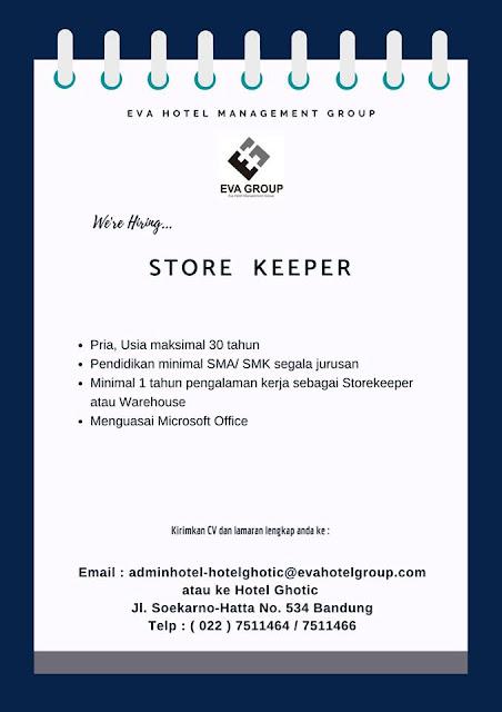 Lowongan Kerja Store Keeper Bandung