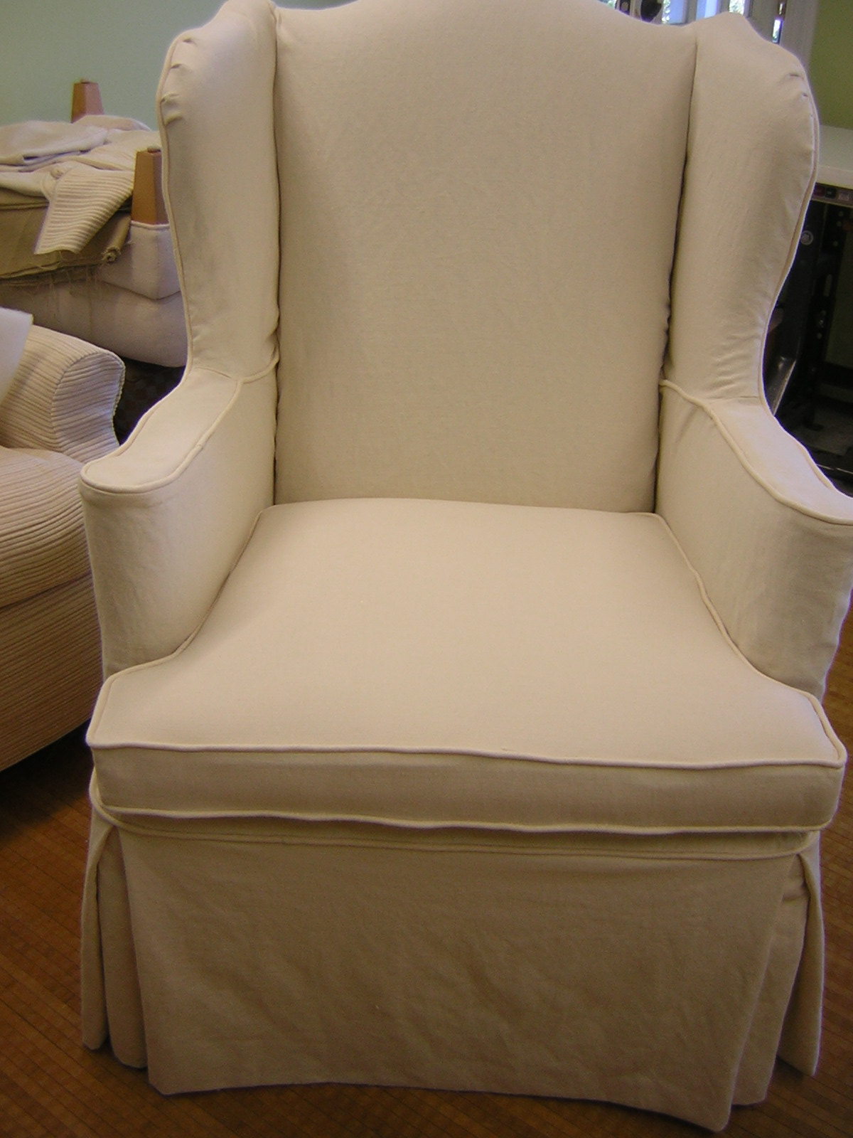 Should I Get Chair Covers For My Wedding How To Clean Aluminum Chairs Slipcover Chic A Wing And Skirt