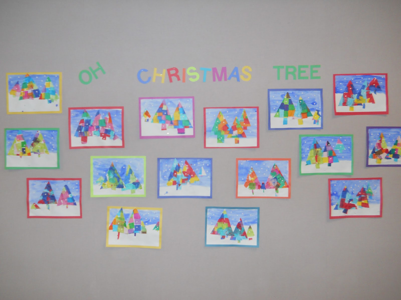 Mrs T S First Grade Class Christmas Tree Symmetry