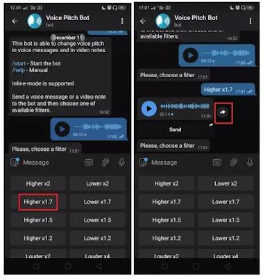 Cara Menukar Suara Voice Note Di Telegram -3