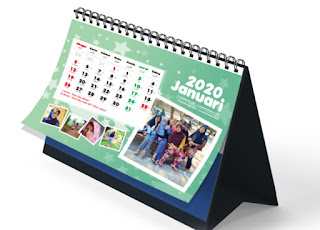 Kalender 2020 Untuk Meja Atau Duduk