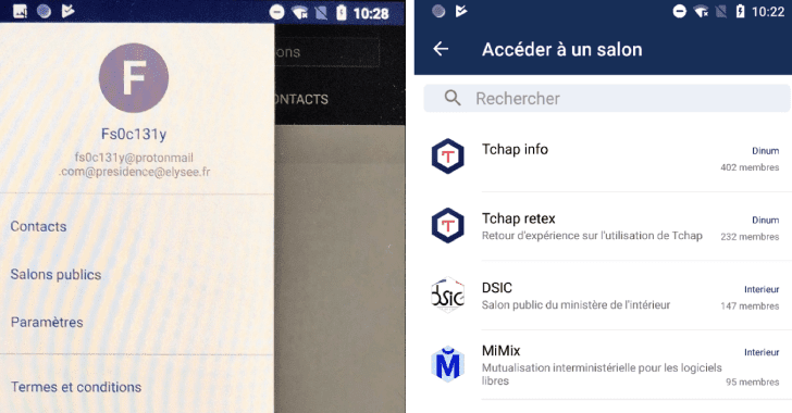 french Tchap secure messenger