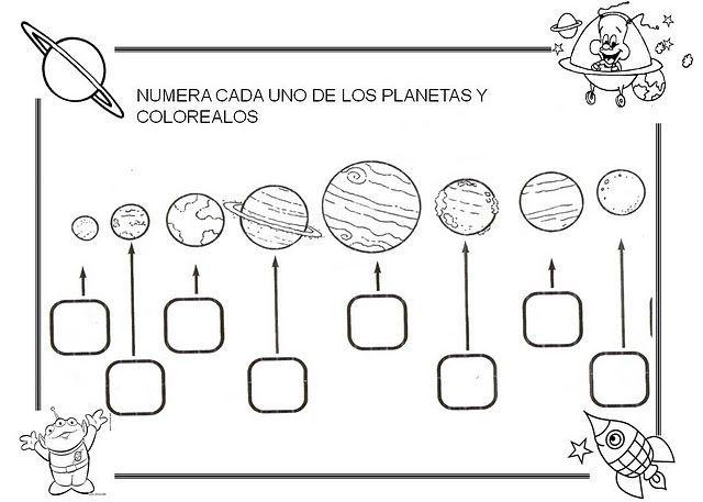 Dibujos Para Colorear Del Sistema Solar: Dibujos Para Colorear.