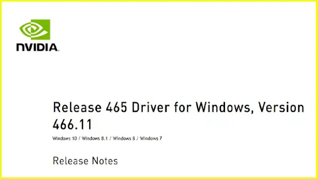 GeForce 466.11 WHQL driver is available for download