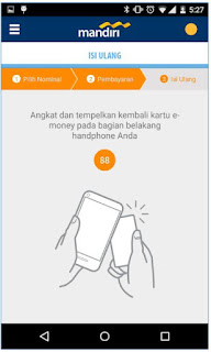 Isi Ulang E-Money Card Via Android