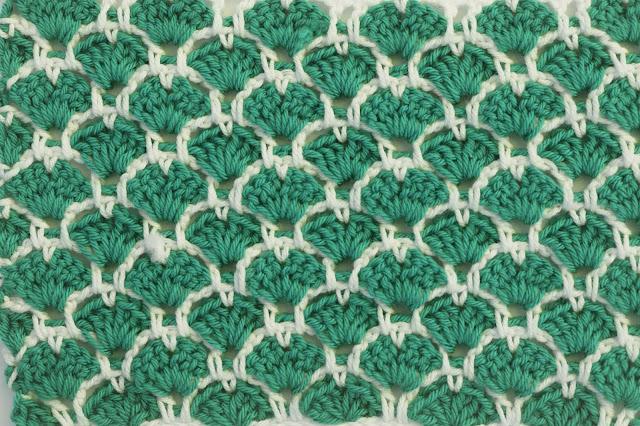 3 - Crochet Imagen Puntada a crochet de corazones y abanicos por Majovel Crochet