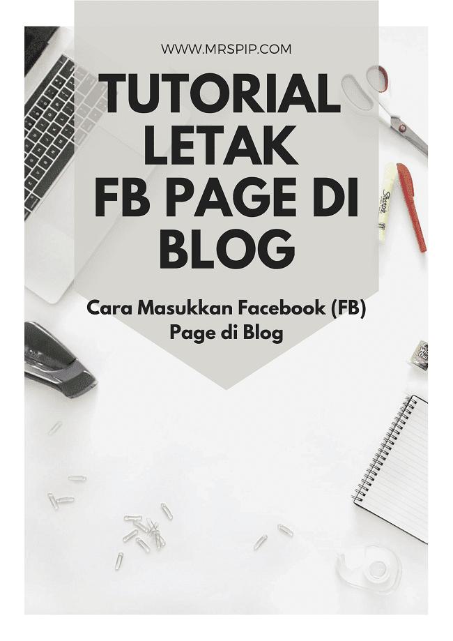 Cara Masukkan Facebook (FB) Page di Blog