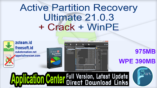 Active Partition Recovery Ultimate 21.0.3 + Crack + WinPE_ ZcTeam.id