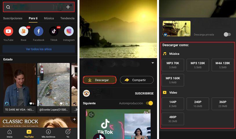 SnapTube para Android: Descarga videos y archivos MP3 en tu teléfono móvil