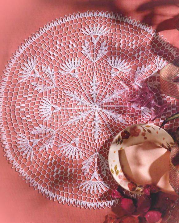 Easy Crochet Pattern - Beautiful Simple Lace Doily