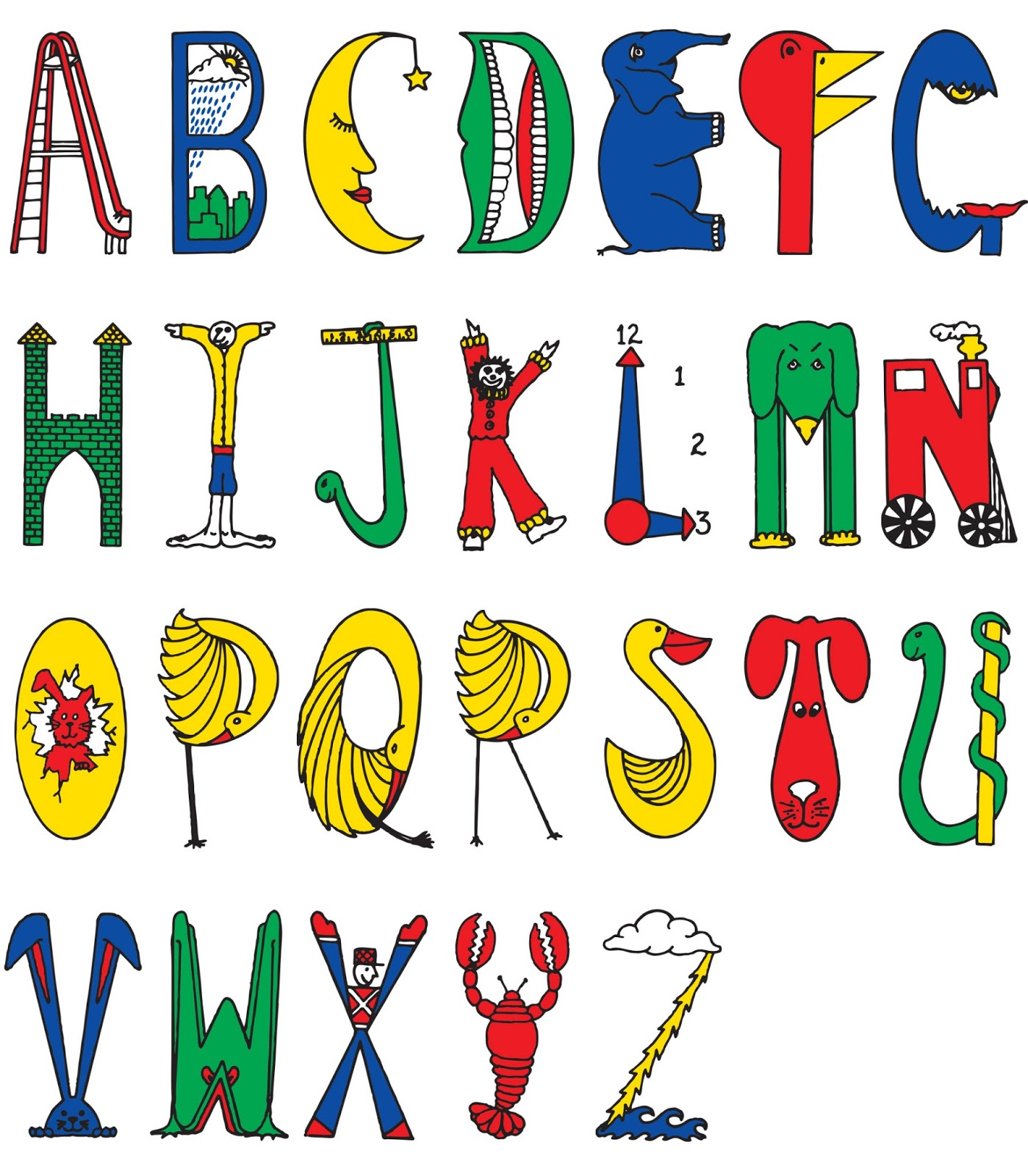 Letters Of Alphabet